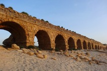 Ancient aqueduct at Caesarea
