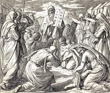 The Ten Commandment Tablets, Exodus 34:1-32