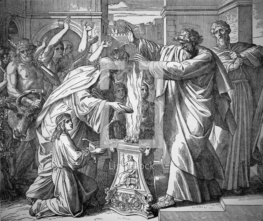 Paul and Barnabus in Lystra, Acts 14:8-18