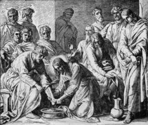 Jesus washing the disciples' feet, John 13: 5-11
