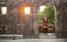 a smiling boy in Mandawa, India