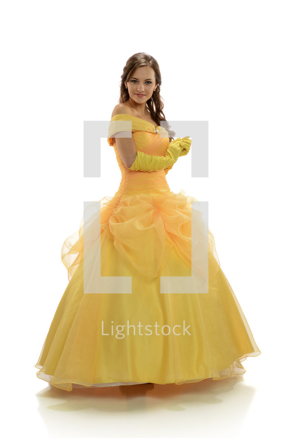 Princess in a yellow gown