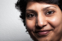 closeup of a woman's face