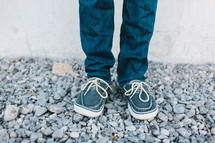 feet of boy in shoes
