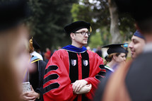 doctorate at a graduation ceremony