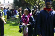 celebration after a college graduation ceremony