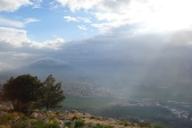 The view off Nazareth Hill (Mt. Precipice)