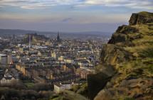 View of Edinburgh Scotland from Arthurs Seat