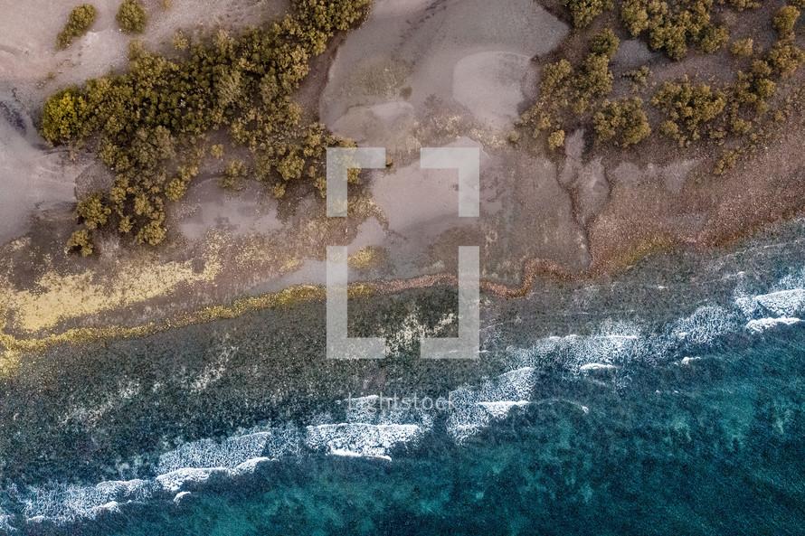 tropical island landscape and seascape