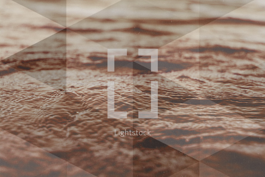 water triangle background