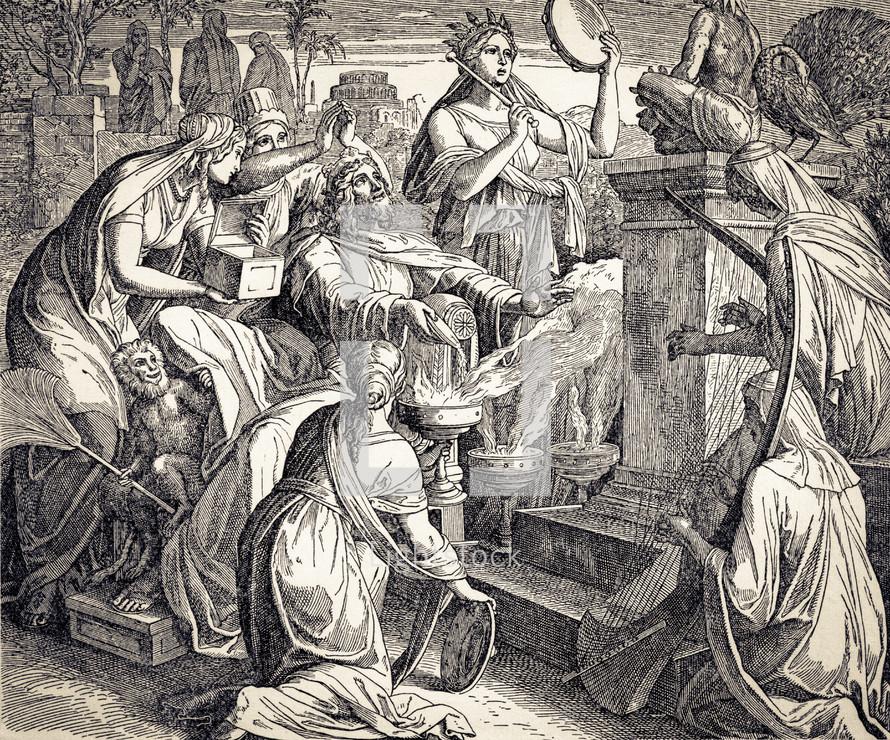 Solomon Worships Idols, 1 Kings 11:4-12