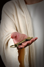 Jesus offering a key