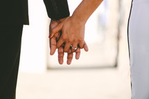 engagement photo - couple holding hands