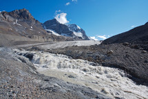 Glacier with ice melt