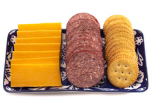 sausage, cheese, and crackers