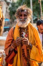 bearded man in India