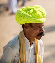man in a turban in India