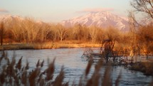 Jordan river in Utah