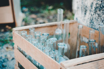 crate of glass bottles