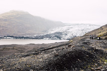 exploring the shore in Iceland