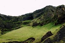 green hillsides in Iceland