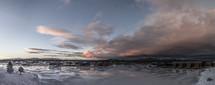 winter icy lake