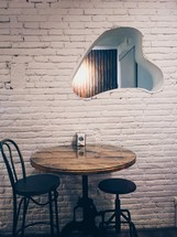 barstools and hightop table
