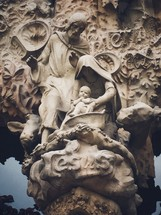 stone Mary, Joseph, and Baby Jesus