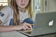 Homeschool - student and virtual learning from home