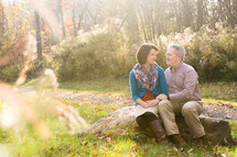 portrait of a couple outdoors in fall