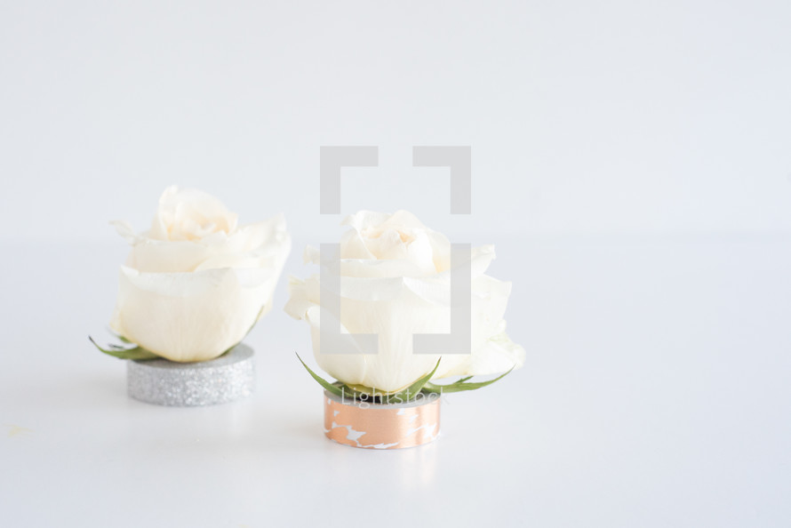 roses on rolls of tape