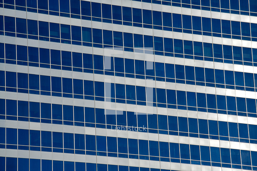 Windows of an office building