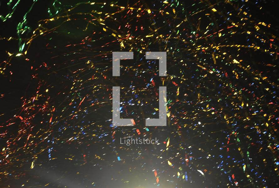 Celebration confetti and streamers