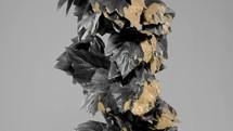 black vine with gold paint