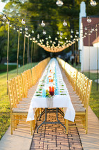 reception table outdoors
