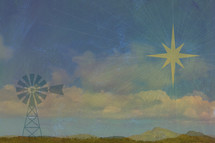 Windmill and Star of Bethlehem
