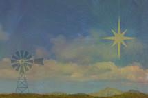 Windmill and Star of Bethlehem