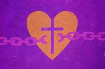 cross and broken chain