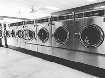 washing machines in a laundry mat