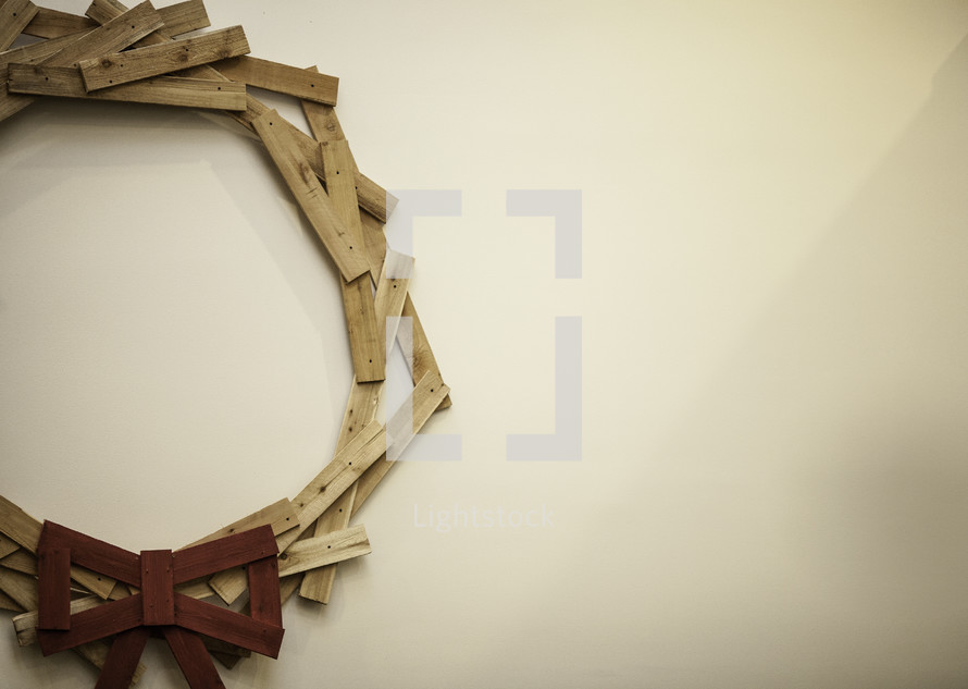 wreath made of wood