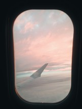plane wing out a window