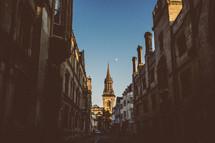 narrow alley in a european city