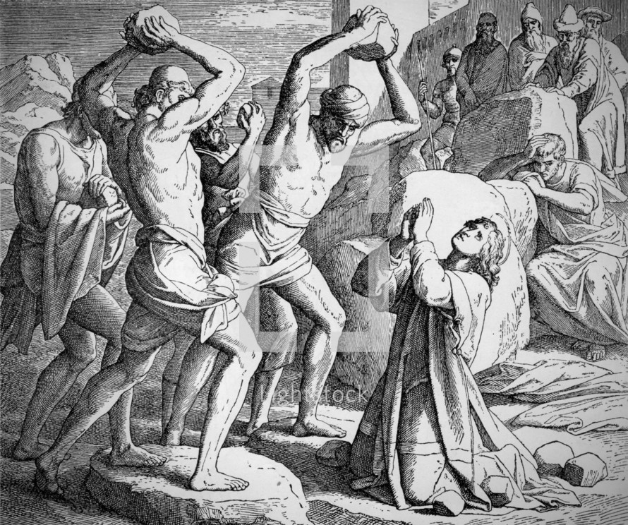 The Stoning of Stephen, Acts 7:55-59