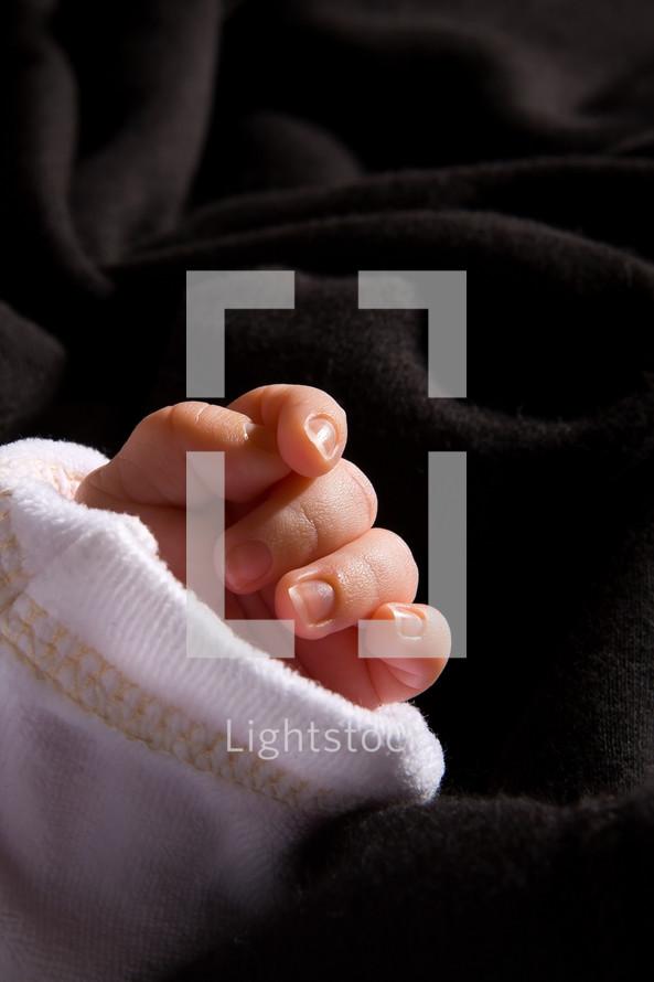 infant's hand