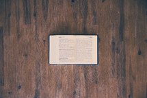 open Bible on a floor