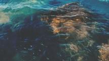 ocean water and rock (slow motion, 24fps)