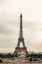 Eiffel tower and Paris streets
