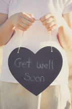 Get Well Soon Written on Chalkboard