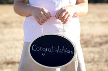 Congratulations Written on Chalkboard
