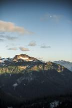 snow on a mountaintop